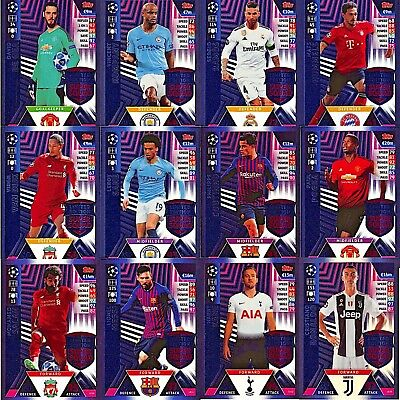UEFA Champions League Match Attax 2018/19 Trading Card Limited Editions UK Issue
