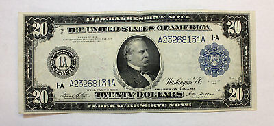 1914 $20 Twenty Dollar Federal Reserve Note * Large Sized Note * Old Paper Money