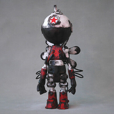 Afs Roboter Figur - Red Star - Helikopter - Steamfish - Sci Fi Art - Unikat!!!