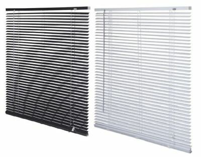 Easy Fit PVC Venetian Blind Window Blind All Sizes Drop 150cm - Black / White