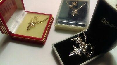 Religious Lot Of 3 Pieces  Great Jewels Beautiful Jewelry Necklaces Gift Boxes