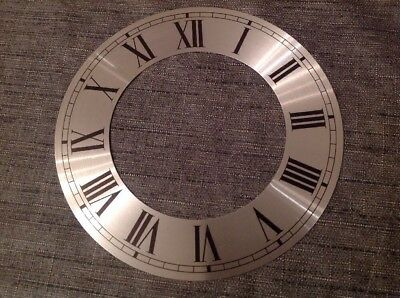 Vienna Style Clock DIAL Face Silver New Old Stock Clock Parts 153mm Diameter