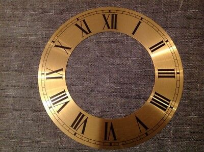 Vienna Style Clock DIAL Face Brass New Old Stock Clock Parts 153mm Diameter