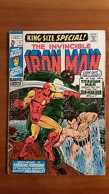 Invincible Iron Man King Size Special #1  VF (7.0)  Sub-Mariner cross-over.
