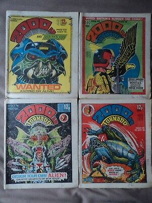 4 - Vintage 2000AD comics from October 1979 - Consecutive numbers  133 to 136