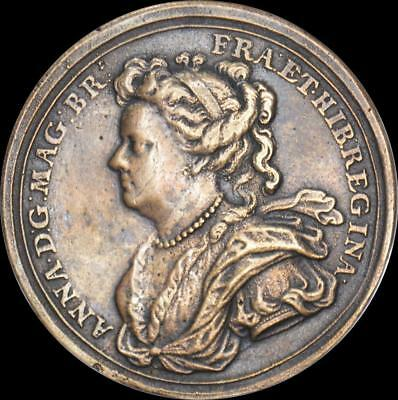 Queen Anne - 1702 Prince George Lord High Admiral medal by Croker