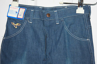 Vintage Young Maverick Jeans Youth 12 New With Tags Old Stock Embroidered Bird