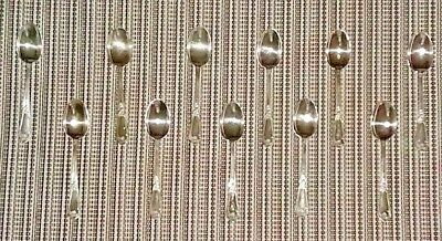 Set of 11 Sterling Silver Demitasse Spoons circa 1960s from italy