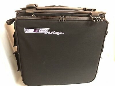 Crop in Style Navigator Wheeled Handled Tote Scrapbook Case Full of Craft Items