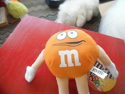 Toy Factory orange M&M stuffed doll NEW