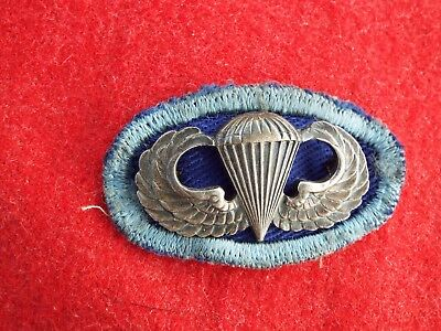 WW-2 ORIGINAL  509th PIB JUMP OVAL & JUMP WING