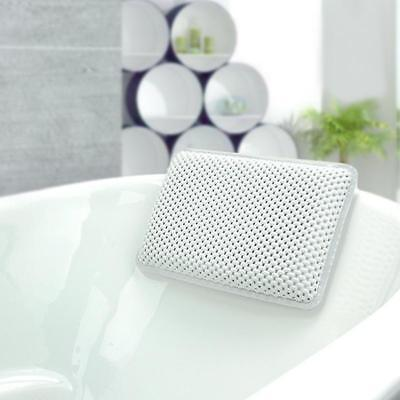 Comfort Luxury White Waterproof Bath Pillow For Neck Support Bathroom
