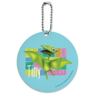 Dinosaur Train Tiny Round Luggage ID Tag Card Suitcase Carry-On