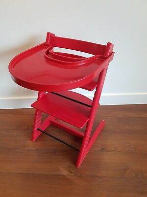 Stokke Tripp Trapp Rot Mit Playtray