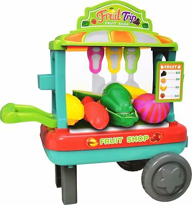 Kids Fruit Shop Supermarket Grocery Pretend Toy Trolley Play set Play Gift New