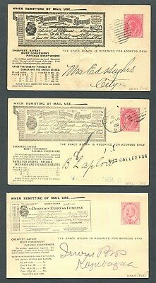 Canada Postal Stationery Dmx1, Dmx2, Dmx4 Used Money Order Pictorial Post Cards