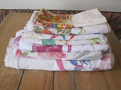 Tablecloths Lot Of 6 - Variety Usable Ex. To Cutters-Vintage Florals