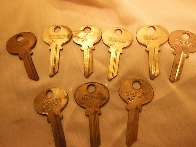 Sargent Key Blanks Vintage lot of 9