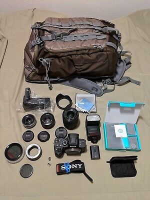 Sony Alpha A7 III 24.2MP DLSR Digital Camera with 3 lenses, bunch of accessories
