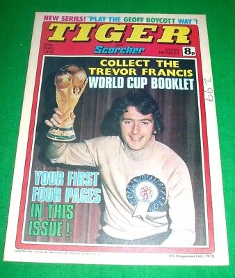 Tiger Comic With Australia Cricket Team Colour Centrefold  Poster  20/5/1978