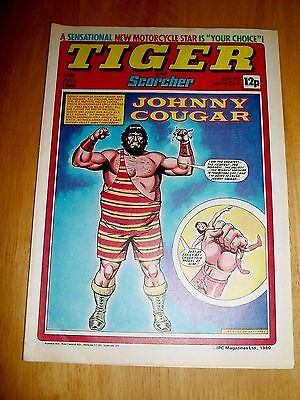 Tiger Comic 12/7/80  With  Fast Freddie Spencer  Colour Poster