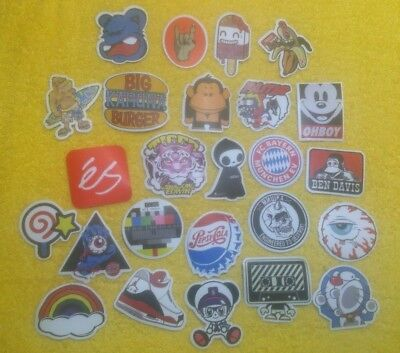 lot of 25 stickers luggage skateboards computers 5