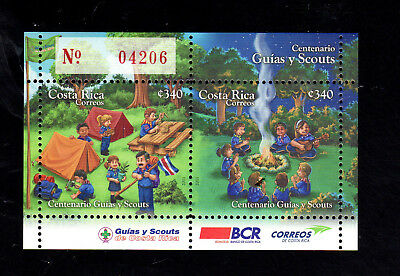 Costa Rica #646  2011  Scouting  Nh  O.g  S/s