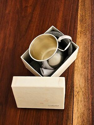 - Gorham Sterling Silver  Baby Cup In Original Box And Bag No Monogram