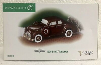 Department 56 Christmas in the City Vintage Cars 1939 Buick Roadster #59429 New