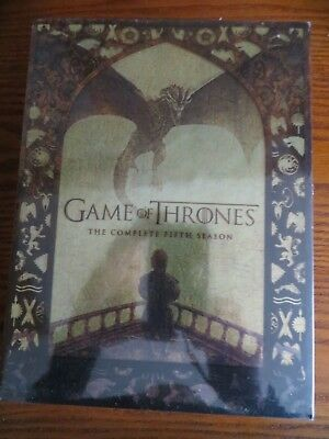 Game of Thrones: The Complete Fifth Season (DVD, 2016, 5-Disc Set) BRAND NEW!!