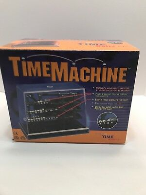 NIB Vintage Time Machine Kinetic Display Clock Rolling Ball Bearings AC Powered