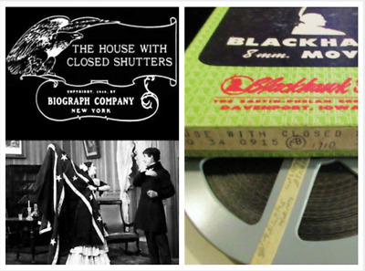 Standard 8mm Film: THE HOUSE WITH CLOSED SHUTTERS (1910) Blackhawk - DW GRIFFITH