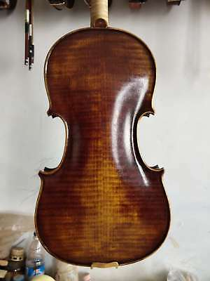 Master 4/4 Violin antique style European flamed maple back spruce top nice tone