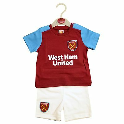 West Ham United FC Official Baby Soccer Crest T-Shirt   Shorts Set (SG15617 cf302844f