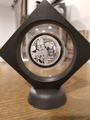 Clone Trooper Star Wars 1 oz. 999 Silver Coin 2 dollar Niue Framed w stand Vader
