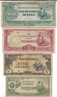 Rare Old WWII 1943 Japan War Vintage Dollar Note Unique WW2 Orig Collection Lot