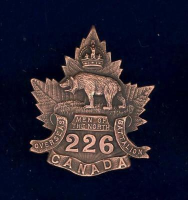 226th (Men of the North) Bn, CEF-cap badge-superior strike and finish