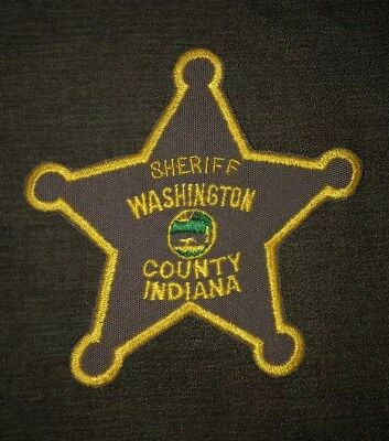 Washington County Sheriff Patch Indiana IN Old