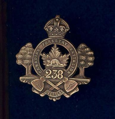 238th (Canadian Forestry) Bn, CEF-cap badge-superior strike and finish