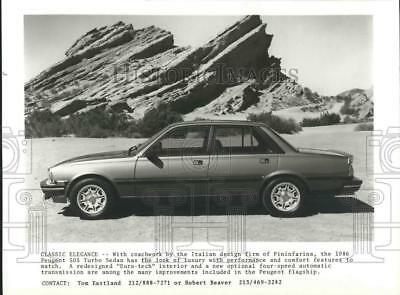 1986 Press Photo 1986 Peugeot 505 Turbo Sedan - tua54000