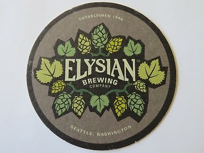 Beer Collectible Coaster ~ ELYSIAN Brewing Co ~ Seattle, WASHINGTON Since 1996