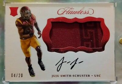 2018 Juju Smith-Schuster Flawless Rookie 2 Color Patch Autograph 4/20!