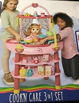 Baby Alive Cook'N Care 3 in 1 Set for 16 in Doll Ages 3 & Up Includes: 28 Pieces