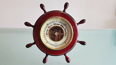 Aneroid Barometer, Ships Wheel, Made In Germany & In Excellent Condition.