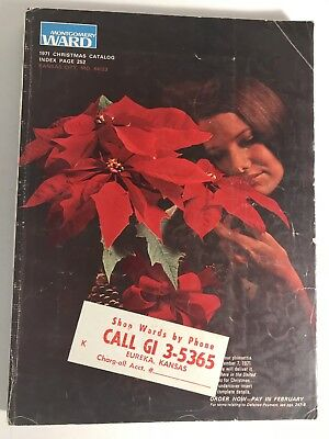 1971 Montgomery Ward Christmas Catalog View Master Barbie Dolls Vintage Letter