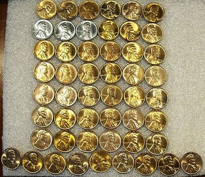 1941 - 1958 UNC to Choice RED BU COMPLETE Lincoln Wheat Cent Set