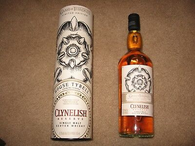 GAME OF THRONES LIMITED EDITION Single Malt House Tyrell Clynelish Reserve Rare