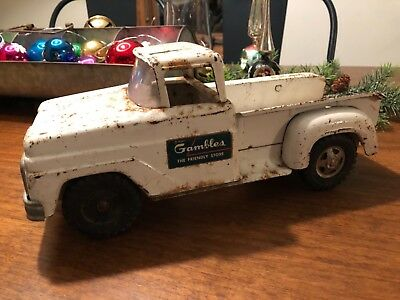 1960's Tonka Gambles Step Side Truck Vintage Pressed Steel Toy Vehicle