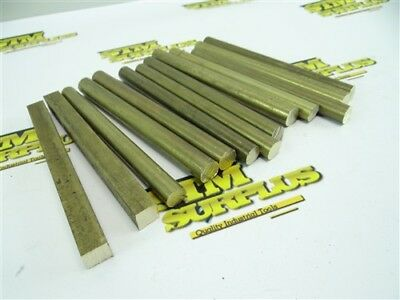 "5Lb Lot Of Solid Brass Round & Square Stock 1/2"" X 6"""