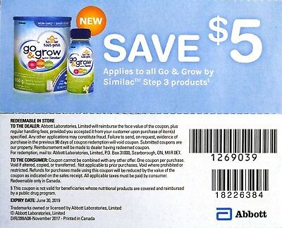 6 x $5 off on Similac Go & Grow Step 3 Product Canada Coupons